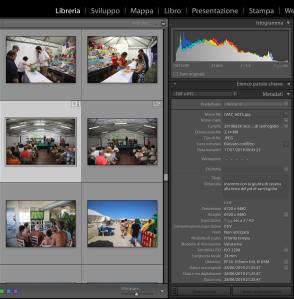 schermata infofile di lightroom