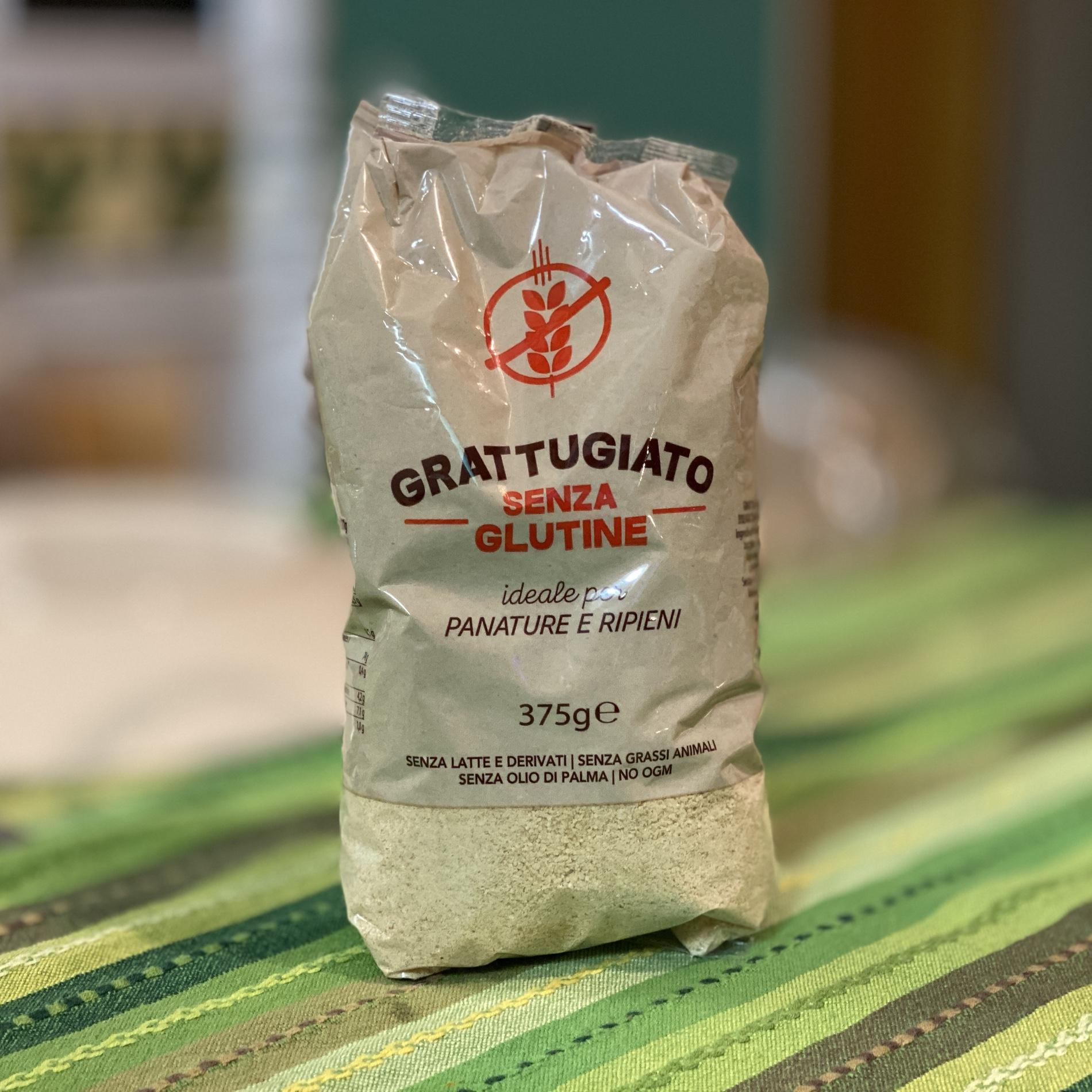 Sacchetto di pane grattugiato senza glutine